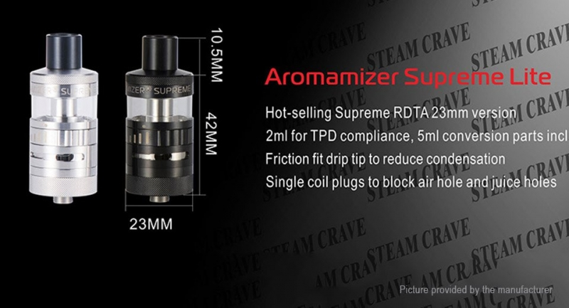 Steam Crave Aromamizer Supreme Lite
