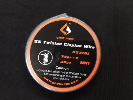 Проволока GEEKVAPE Clapton SS316 Wire (TC Wire) - 28AWG*2(paralleled) + 30AWG