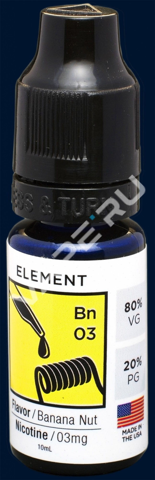 Element E- liquid, Dripper series, Banana Nut, 10 ml