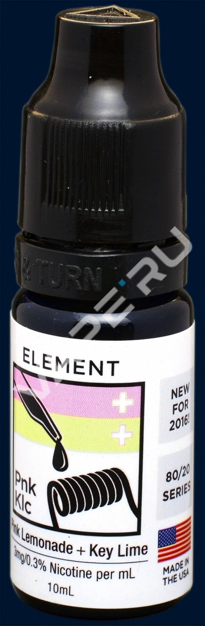 Element E- liquid,Emulsions, Dripper series, Pink Lemonade+Key Lime Cookie, 10ml