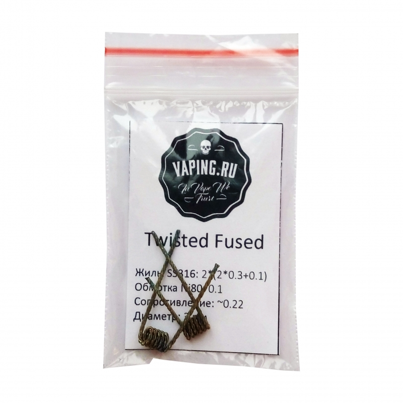 Vaping.ru SS Twisted Fused Clapton 2*(2*0.3+0.1)